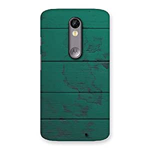 Cute Green Wood Texture Print Back Case Cover for Moto X Force
