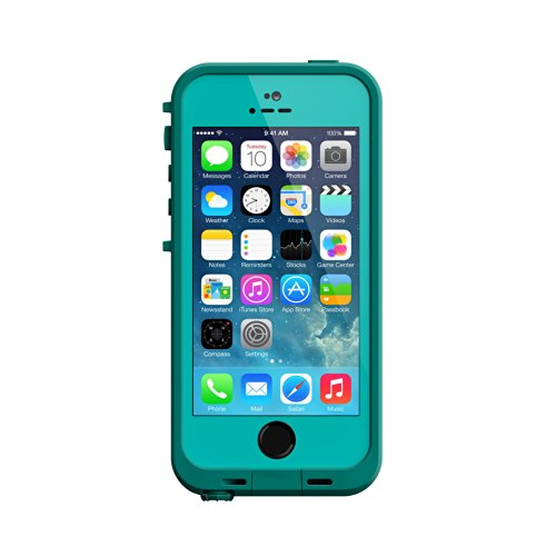 Lifeproof Fre Carrying Case For Iphone 5S - Retail Packaging - Teal/Dark Teal