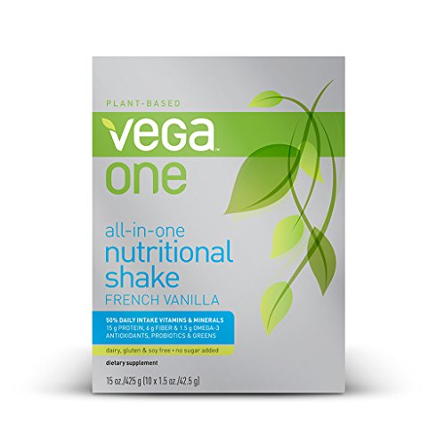 Vega One All-In-One Nutritional Shake, French Vanilla, 10 Count front-45097