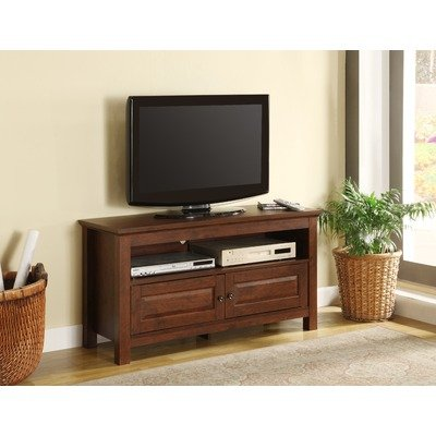 Cheap 44″ Wood TV Stand in Traditional Brown (WQ44CSTB)