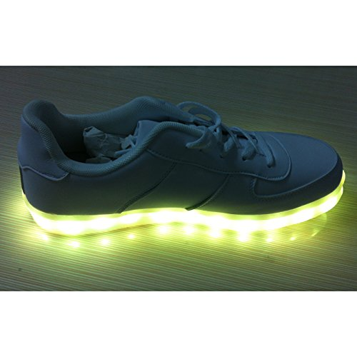 Acever Usb Charging Led Lighted Luminous Couple Casual Shoes Women'S Led Shoes Led Sneakers Christmas Cosplay (Us6-Women)