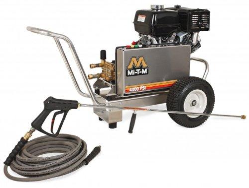 Mi-T-M Cba-4004-1Mah Cba, Aluminum Series Cold Water Belt Drive, 389Cc Honda Ohv Gasoline Engine, 4000 Psi Pressure Washer