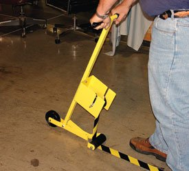 Vinyl Tape Floor Applicator Industrial Floor Warning