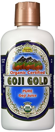 Dynamic Health Goji Gold- 100% Pure Organic Certified Goji Juice, 32-Ounce Bottle (Organic Goji Juice compare prices)