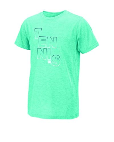 Wilson T-Shirt Manica Corta G Tennis Outline Tech Tee Aruba Hea [Turchese]
