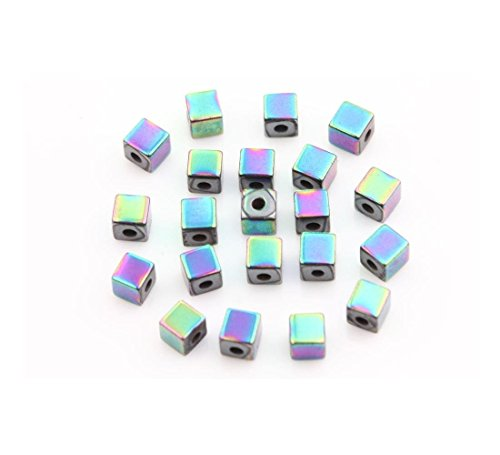 Lots Hematite Gemstone Tube Square Cube Oval Crafts Jewelry Findings Charm Bead Style:A0488-I-50Pcs