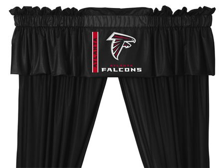 NFL Atlanta Falcons 5pc Long Jersey Drapes Valance Set at Amazon.com