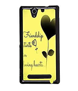 Fuson Meaningful Text Back Case Cover for SONY XPERIA C3 - D3878
