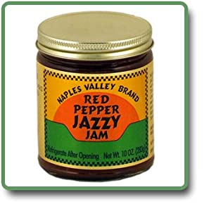 Red Pepper Jazzy Jam - 11 Oz Glass Jar from Naples Valley