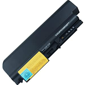Image 7200mAh 9cell Battery IBM ThinkPad R61i R61 14-Inch Wide - Levono ThinkPad T400 fits 42T5225 42T5227 42T5262 42T5264 42T5229 Laptop Notebook Main Battery - 10.8V/71Wh