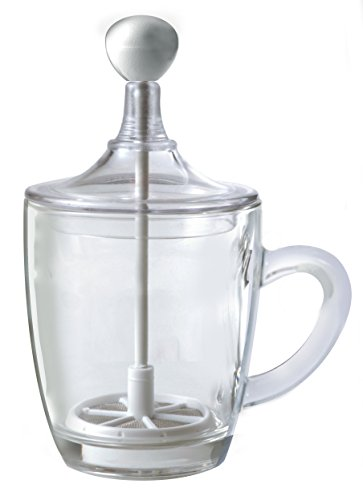 "Frabosk ""Limpido"" Glass Frother/Creamer Foam Clear 9 oz"