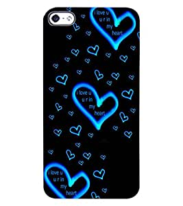 ColourCraft Lovely Heart Pattern Design Back Case Cover for APPLE IPHONE 4