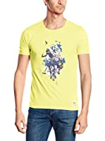 US Polo Association Camiseta Manga Corta (Amarillo)
