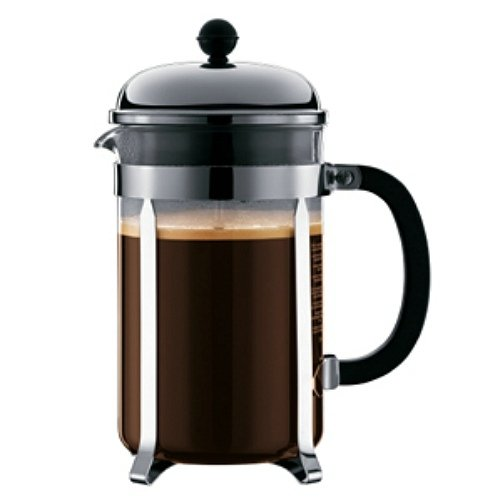 Bodum Chambord French Press Coffee Maker, Silver, 12 Cup 1 Ea