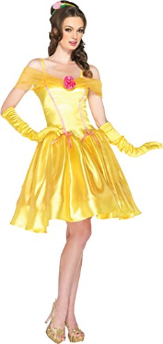 Leg Avenue Womens Disney Fancy Princess Belle Sweet Yellow Halloween Costume