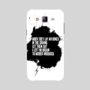 Back cover for Samsung Galaxy E7 When they Lay my Bones