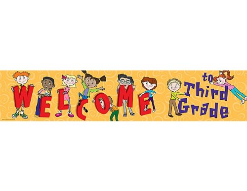 Teacher Created Resources Welcome to 3rd Grd Banner, Multi Color (4573)