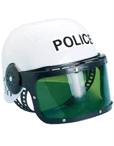 Police Motorcycle Cop Helmet & Visor Child Costume by Castle Toy