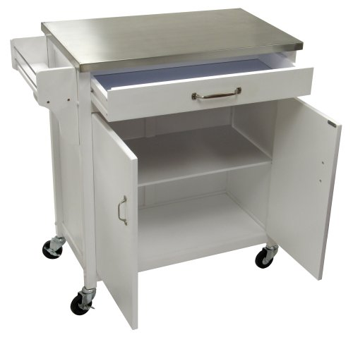 Cheap Winsome Wood Kitchen Cart with Stainless-Steel Top, White (B000NPQEGQ)