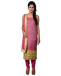 Mumtaz Sons Women's Cotton Unstitched Dress Material (MS111406A,Rani)