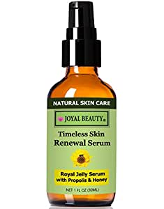 Joyal Beauty® #1 Best Royal Jelly Serum for Face by Joyal Beauty Timeless Skin Renewal Serum. Enriched With Organic Bee Propolis,Royal Jelly,Honey. The World's Best Collagen Booster to Enhance