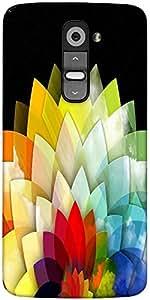 Snoogg Colorful Flower Petals 2768 Designer Protective Back Case Cover For LG G2