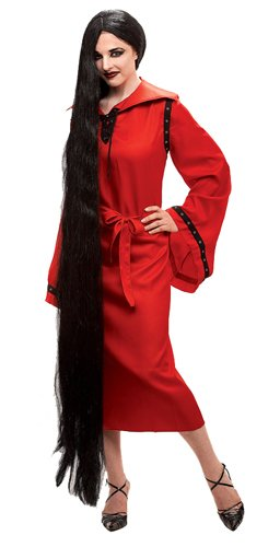 "60"" Extra Long Black Wig"