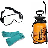 Truphe Garden Pressure Sprayer - 5 Litres With Safety Gloves And Safety Glass, Pesticide Sprayer
