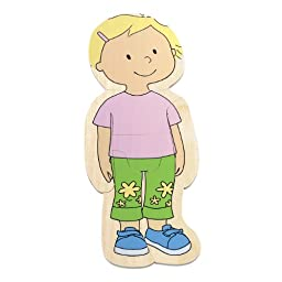 Hape - Your Body - 5-Layer Wooden Puzzle, Girl