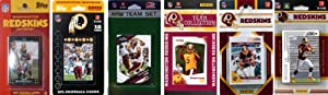 NFL Washington Redskins 6 Different Licensed Trading Card Team Sets by C&I Collectables
