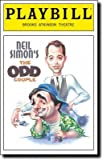 Brand New Color Playbill from The Odd Couple Revival starring Matthew Broderick Nathan Lane Brad Garrett Olivia dAbo