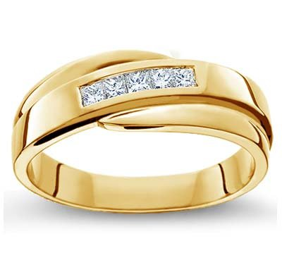 Gold wedding rings for him