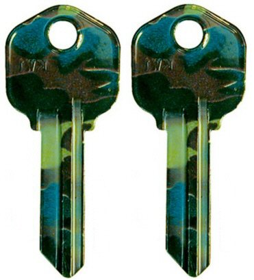 2 Color House Key Blanks Kw1 For Kwikset - Camouflage Army Military Design Pattern