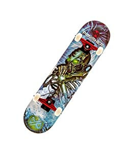 Buy Punisher Skateboards Alien Rage Complete Skateboard with Concave Deck, Blue, 31-Inch by Punisher Skateboards