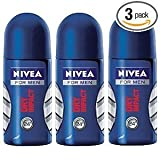 Nivea For Men Dry Impact Antiperspirant Deodorant Roll-on 50ml (3 Pack)