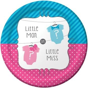 "Little Man or Little Miss 9"" Lunch/Dinner Plates (8 ct) - 1"