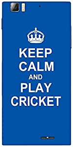 Snoogg Keep Calm And Play Cricket Designer Protective Back Case Cover For Len...