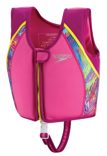 Speedo Kid's Begin to Swim UV Printed Neoprene Vest, Pink, Medium