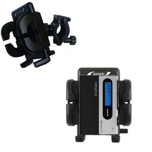Gomadic Bike Handlebar Holder Mount System Suitable For The Creative Muvo Slim - Unique Holder, Lifetime Warranty front-1076137