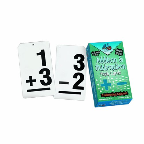 Learning Advantage Ctu8662 Double Value Vertical Flash Cards Addition Subtraction - 1