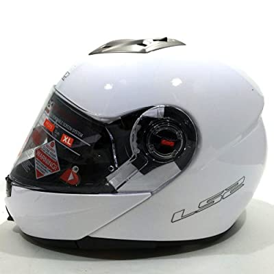 LS2 Easy Solid FF 370 - Casque Modulable Moto/Scooter Blanc