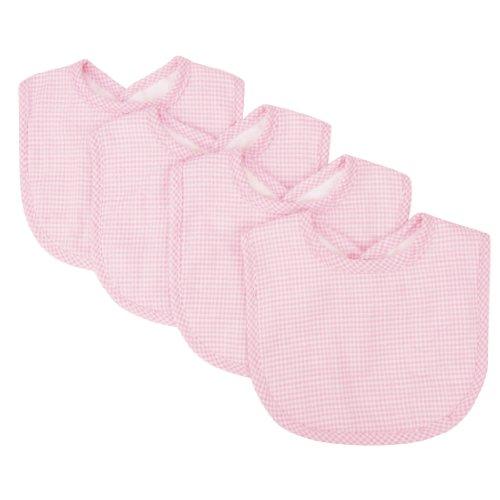 Trend Lab Trend Lab Pink Gingham Seersucker Bib Set, Pink, 4 Count