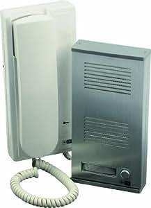 SCS SEN4137398 Kit portier audio façade métallique Pose en applique 2 Fils intégral