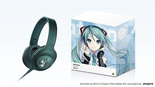 SONY h.ear on MDR-100A 初音ミクモデル MIKU MODEL ハイレゾ音源対応 ビリジアンブルー