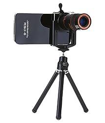 Technomart Universal 8x Mobile Zoom Lense Tripod Mobile Phone Lens