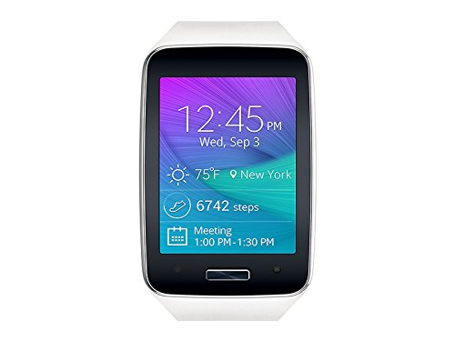 Samsung Galaxy Gear S R750 - Smart Watch w/ Curved Super AMOLED Display - Verizon - White (Certified Refurbished) (Samsung Gear S Smartwatch compare prices)