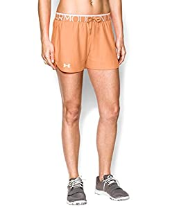 Under Armour Women's UA Play Up Shorts SM (US 4-6) Afterglow
