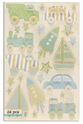 Martha Stewart Crafts Truck Car & Rocket Stickers By The Package