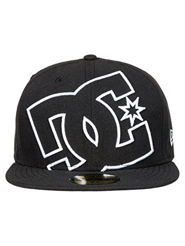 DC Men's Coverage Hat, Vintage Black, 7.375