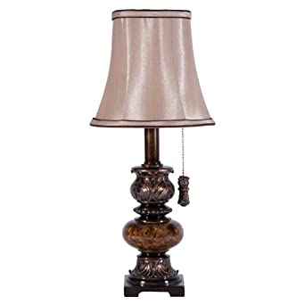 small brown accent lamp with pullchain table lamps. Black Bedroom Furniture Sets. Home Design Ideas
